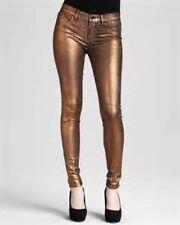 $189 J Brand 801 Super Skinny Metallic Bronze Jeans 22 NEW