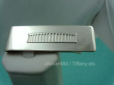 Tiffany & Co. Coliseum Mony Clip Solid Sterling Silver Rare Exc. Cond.
