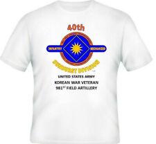 40TH INFANTRY DIVISION *KOREAN WAR VETERAN 981ST FIELD ARTILLERY 2-SIDED SHIRT