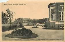 Alabama, Al, Tuskegee Institute, Court Square Early Postcard