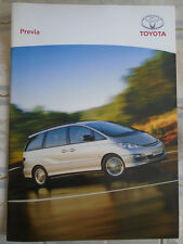 Toyota Previa range brochure May 2004 Irish market