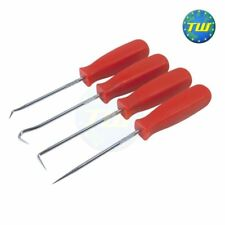 Amtech 4pc Set Probe Tool Mini Hook and Pick Red Handles for Fuses O Rings R0360
