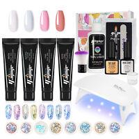 21pc Poly UV Gel Set Nail Art Builder Gel Quick Extension Nail Decor Sequins Set
