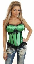 Satin Halter Lace Up Basques & Corsets for Women