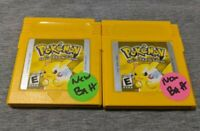 Pokemon Yellow Version Pikachu Nintendo Game Boy Color Gameboy New Save Battery