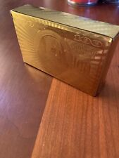 24K Carat Gold Plated Poker Playing Cards Set Full Deck