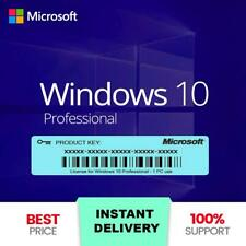 Microsoft Windows 10 Pro Professional 32/64bit LICENSE KEY🔥. ✅.INSTANT DELIVERY
