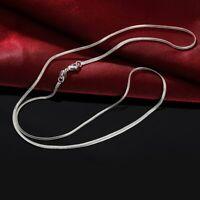Damen Herren Halskette Kette Silber 925er Schlangenkette Silberkette