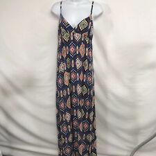 Xai Womens  Maxi Dress Size M Multicolored Adjustable Spaghetti Straps V Neck