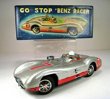 MARUSAN Tin Battery Operated Mercedes Benz W196 Go Stop Racer Excellent With Box