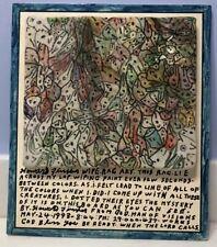 Original Howard Finster - Mahogna Wood - Wipe Rag Art - Wood Mounted 1993