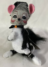 RARE Annalee Halloween Doll ~ 2005 TRICK OR TREAT CAT MOUSE 6""