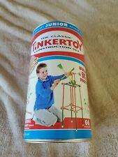 New The Classic Tinkertoy Construction Set 66 Pieces Wooden Builder Set 2000