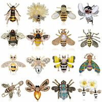 Fashion Women Ladies Crystal Pearl Cute Bee Animal Brooch Pin Badge Jewellery