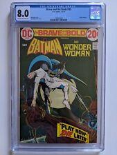 Brave and the Bold 105 cgc 8.0 batman dc bronze age jim aparo wonder woman
