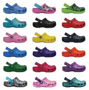 Crocs Kids Classic Cayman Croslite Boys Girls Clog New Colours & Sizing For 2021