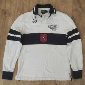 Polo Ralph Lauren Lake Placid Czechoslovakia RARE rugby long sleeve shirt size S