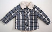 $120 IKKS Navy Blue Check Print Cotton Jacket 3M/60 FRANCE