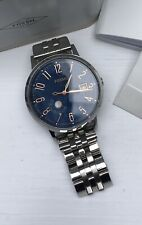 Fossil Watch Boxed Stainless Steel With Blue Face And Rose Gold Numbers