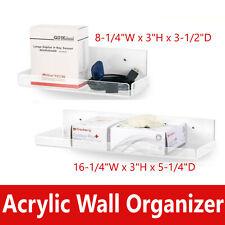 Dental Acryic Wall Organizer Shelf Smalllarge For Spa Medical Office Clear
