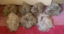 7 pelucas de cabello rubio Real Corte corto