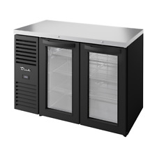 """True Tbr48-Risz1-L-B-Gg-1 48""""W Two-Section Refrigerated Back Bar Cooler"""