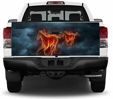 Horse Horses Ghost Riders Flames Flaming Truck Tailgate Vinyl Graphic Decal Wrap