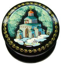 Boite à encens Monastère Russe Vladimir - Boite à pilules peinte Eglise russe