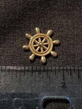 Ships Wheel Very Tiny 1/2� Metal Jewelry Trinket Charm