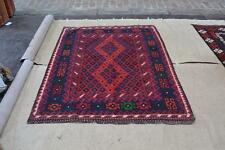 Afghan Kilim Rug Carpet 6'x4'9 Hand Woven Traditional Ghazni Wool Kelim #5024