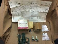1956 Ford and Thunderbird NORS backup light kit, lenses, wiring, sockets