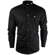 New Men's Lacoste Shirt Plain Black Sky White Navy Slim Fit Size S M L XL XXL