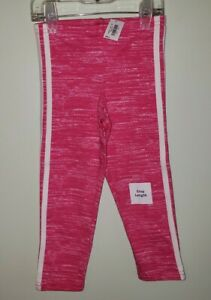 NEW Old Navy Girls SIZE 5 Crop Length Legging Pants PINK & WHITE Athletic #10420