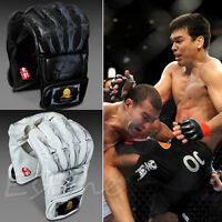 MMA UFC Sparring Grappling Fight Boxing Punch Ultimate Mitts Leather Gloves