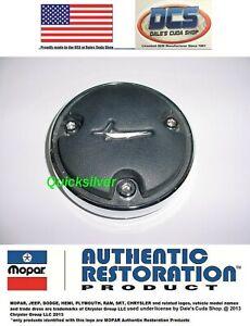 1970 71 Cuda S83 Rim Blow Steering Wheels Center Cap w/ Fish New MoPar