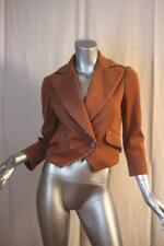 Womans M MISSONI Italy Fall Color Golden Brown Cropped Cotton Jacket Size US 6