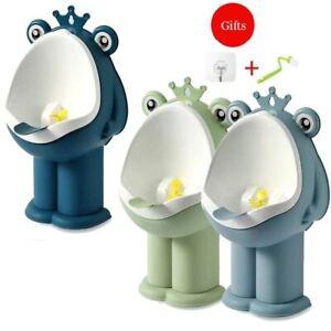 New Baby Kid Children Potty Urinal Toilet Trainer Training Boy Bathroom Frog Pee