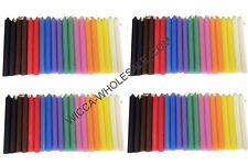 "LOT OF 80 ASST COLOR Chime MINI Candles 4"" FREE PRIORITY MAIL SHIPPING"