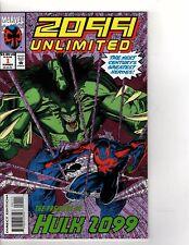 2099 UNLIMITED 1 1ST APP HULK 2099 SPIDERMAN MARVEL  (hk