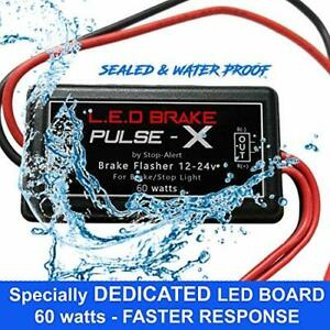 LED Brake Pulse X +60 Flasher Strobe Module Relay Tail Light - Cars,Trucks,Bike
