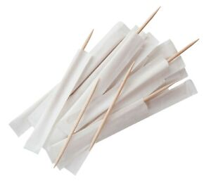 Wooden Toothpicks Individually Wrapped Restaurant Tooth Picks Pack of 1000