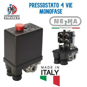 Pressostato Compressore Monofase NE-MA 4Vie ABAC FINI FIAC BALMA NUAIR
