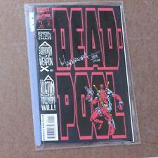 Deadpool The Circle Chase #1 1993 SIGNED Joe Madureira COA Dynamic Forces comic