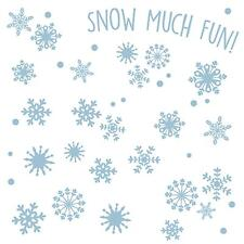 SNOWFLAKES 41 WaLL DeCaLS BLue Snow Much Fun Room Decor Stickers Flakes NEW