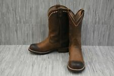 +Ariat Unbridled Roper Distressed Leather Western Boots, Women's Size 8B, Brown