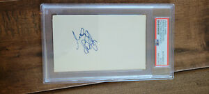 MENDY RUDOLPH SIGNED 3X5 INDEX CARD NBA REFEREE CBS JEWISH HALL OF FAME PSA DNA