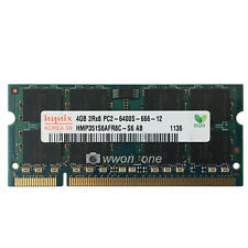 New Hynix 4GB PC2-6400 DDR2-800MHz DDR2 200pin Unbuffered Sodimm Laptop Memory