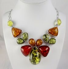 Precious Modernist amber Gemstone Jewellery Necklace N1