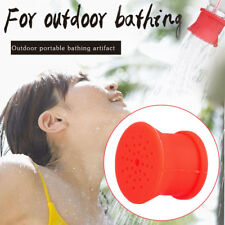 Multifunction Outdoor Silicone Shower Head Portable Camping Bathing Sprinkler
