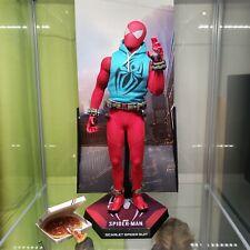 HOT TOYS MARVEL SPIDER-MAN SCARLET SPIDER SUIT 1:6 FIGURE VGM34 VGM 34 Spiderman